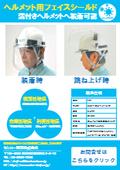 溝付きヘルメット用フェイスシールド