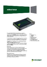 MilDef社 堅牢7インチ ハンドヘルドタブレット DE13 表紙画像