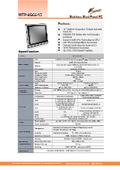 完全防水・防塵対応のIntel 第8世代Core-i5版高性能・薄型ファンレス15型タッチパネルPC『WTP-9G66-15』 表紙画像