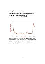 【NIR技術資料6】近赤外分析計(Vis‐NIRS)による潤滑油の品質パラメータの同時測定 表紙画像