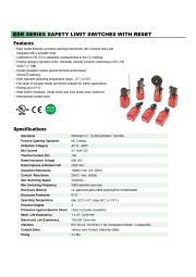 EDRシリーズ、リセット機能付のセーフティ.リミットスイッチ(IP67) 表紙画像