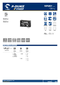 P-DUKE【MPU01】医療用(2MOPP) 高絶縁耐圧 1W DC/DCモジュール 表紙画像