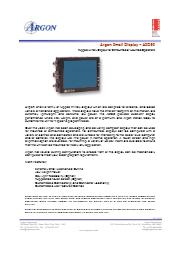 Argon社 ミリタリーグレードの小型ディスプレイ ASD50 表紙画像