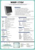 医療用の抗菌プラスチック筐体Core i5搭載17インチ液晶一体型高性能タッチパネルPC『WMP-176V』 表紙画像