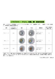 ソウジスキー アルミ、真鍮、銅などの非鉄金属への腐食性試験 表紙画像