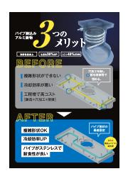 鋳包み冷却パイプ(アルミ鋳物) 表紙画像