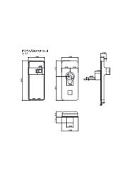 電子錠『ES-F700G』図面 表紙画像