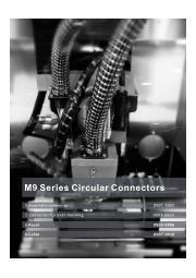 英語版総合カタログ『小型丸型防水コネクタM9シリーズ』 表紙画像