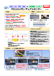PICLIAリボン デュアルセンサー(圧電&静電容量)チラシ ver1 表紙画像