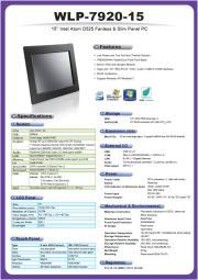 低価格ファンレス・15型ATOM-D525版タッチパネルPC『WLP-7920-15』 表紙画像