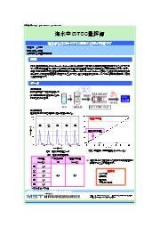 【分析事例】海水中のTOC量評価 表紙画像