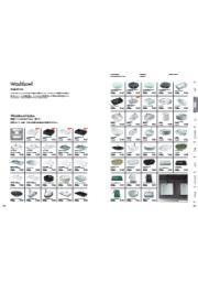 スタイリッシュな洗面ボウル、コンパクト且つ存在感を持った手洗い器、サンワカンパニーオリジナルのデザインまで『洗面ボウルカタログ』 表紙画像