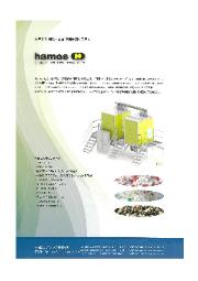 hamos社製『静電式 材料選別システム』カタログ 表紙画像