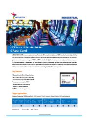 産業向けCFastカード SATA ISC3E (MLC) 表紙画像