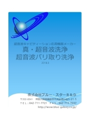 株式会社ブルー・スターR&D総合カタログ 表紙画像