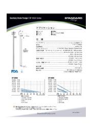 【新製品】サニタリードラムポンプ 『SP-8850 シリーズ』の製品カタログ 表紙画像
