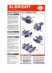 D.C.コンタクター『SW200シリーズ』 表紙画像
