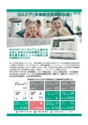 多機能空気品質検知器「GiA(ジア)」 表紙画像