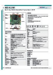 AAEON MiniITX規格産業用マザーボード【MIX-KLUW1】 表紙画像