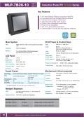 低価格ファンレス・10型Celeron J1900(Quad Core)版タッチパネルPC『WLP-7B20-10』 表紙画像