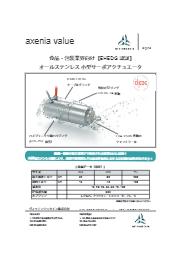 【EHEDG認証】axenia オールステンレス 小型サーボアクチュエータ 表紙画像