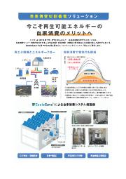 自家消費型創蓄電ソリューション 表紙画像
