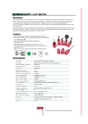 EDシリーズ、台湾製高品質の基本型セーフティ.リミットスイッチ 表紙画像