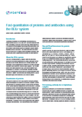 Application Note 5「Fast quantitation of proteins and antibodies」 表紙画像