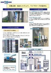 点検・診断サービス 自動点検・給油システムでワイヤロープの延命化 表紙画像