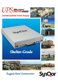 SynQor 防衛(軍事)用途向け超軽量 屋内設置用専用 UPS(無停電電源装置)