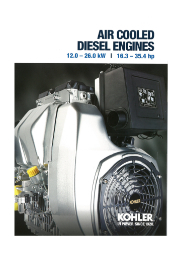 【英語版】KOHLER社 エンジン 空冷12.0-26.0kW 表紙画像
