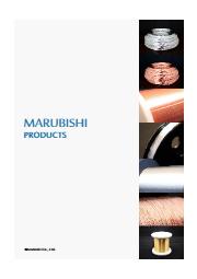 丸菱金属工業「製品カタログ」(英語版) 表紙画像