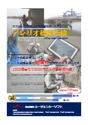 直営点検補助システム『アレリオ橋梁点検(民間用)』チラシ 表紙画像