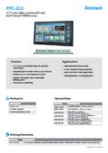 産業用ファンレスタッチパネルPC Arestech PPC-212 製品カタログ