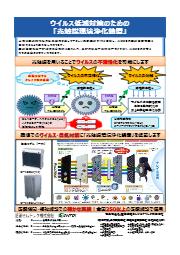 光触媒環境浄化装置『スーパー・クリーン・シリーズ』ウイルスの不活性化 表紙画像