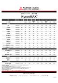 KyronMAX 一般物性表