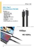 USB3.1 Type-C Gen2 フラットケーブル