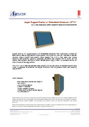 Argon社 ミリタリーグレードの小型タブレットPC AT121 表紙画像