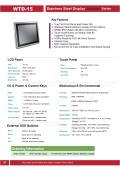 IP66完全防塵・防水ステンレス筐体の15型タッチパネル付き液晶ディスプレイ『WTD-15』 表紙画像