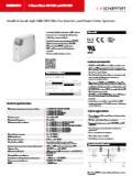 EMCフィルタ「FN 3287/FN 3288シリーズ」英語版カタログ