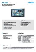 産業用ファンレスタッチパネルPC Arestech PPC-182 製品カタログ