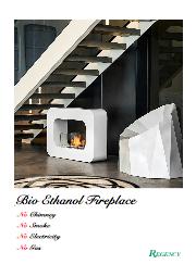 【無料贈呈】煙突の設置が不要!「エタノール燃料暖炉」総合カタログ!自宅で暖炉!も夢じゃない! 表紙画像