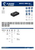 P-DUKE【MPM15】医療用(2MOPP) 高絶縁耐圧 15W DC/DCモジュール 表紙画像