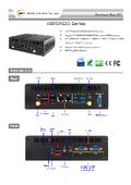 Core i5-7300U搭載ファンレスPC【HBFDF632】