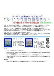 CS-21ひび割れ補修セット(NETIS 活用促進技術)リーフレット 表紙画像