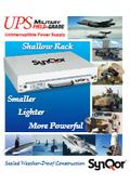 SynQor 防衛(軍事)用途向け超軽量 浅型 UPS(無停電電源装置)