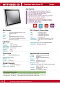 完全防水・防塵対応のIntel 第7世代Core-i5版高性能・薄型ファンレス19型タッチパネルPC『WTP-9E66-19』 表紙画像