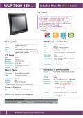 15型第5世代Core-i5-高輝度・広範囲動作温度版高性能ファンレス・タッチパネルPC『WLP-7D20-15H』 表紙画像
