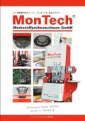 モンテック社ゴム試験機カタログ ゴム試験の各工程をサポート! 表紙画像