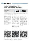 高破砕性 多結晶ダイヤモンドパウダー SYNDIA レジンボンド系 Van Moppes製品  マイクロディアマント 表紙画像